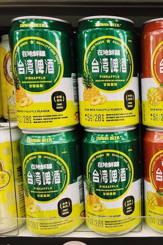 Pineapple fruit flavoured Taiwan Beer