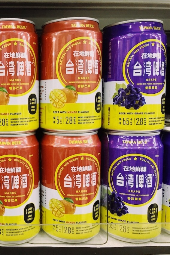 Mango and grapes flavoured Taiwan Beer