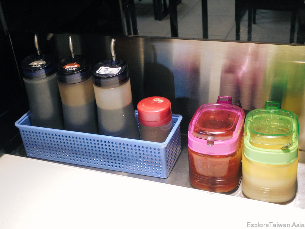 Selection of different sauces